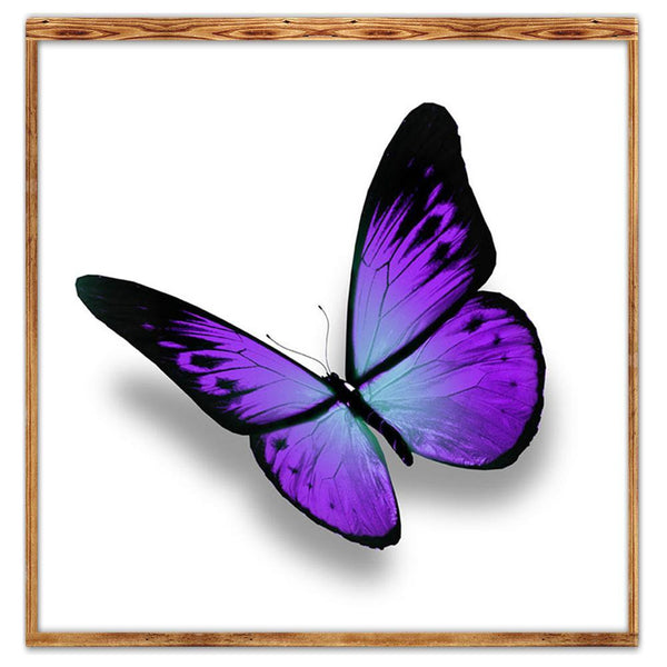 Purple Butterfly - Partial Round Diamond Painting