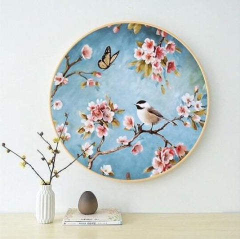 Bird - Full Round Diamond Painting(40*40cm)