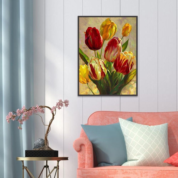 Flowers - Full Round Diamond Painting