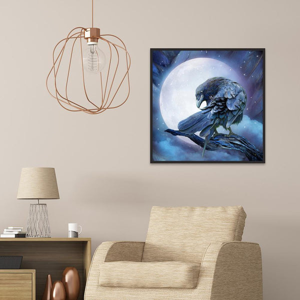 Moon Eagle - Full Round Diamond Painting