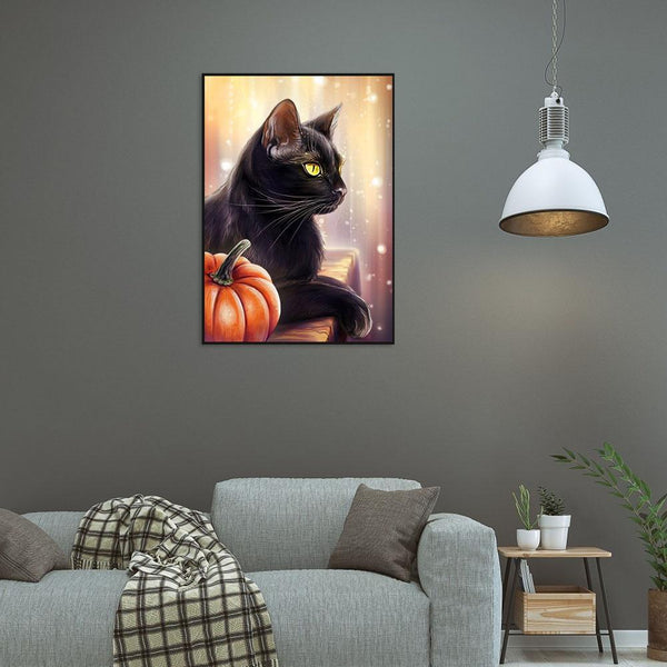 Black Cat - Full Round Diamond Painting