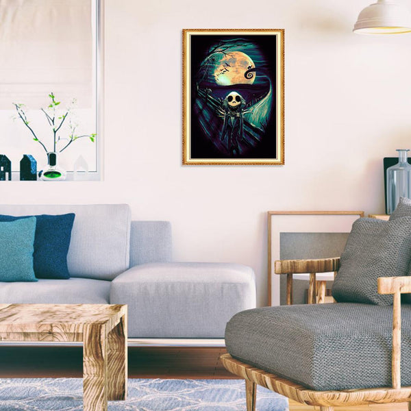 Night Skull - Full Round Diamond Painting