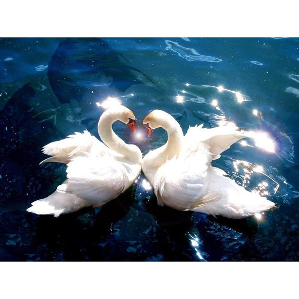 Love Swan - Full Round Diamond Painting