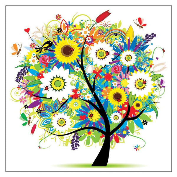 Colorful Happiness Tree - Partial Round Diamond Painting