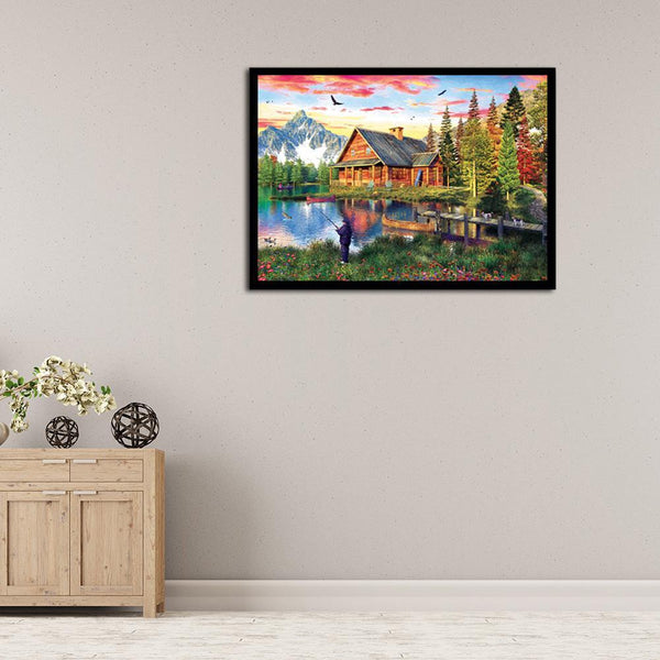 Countryside View - Full Round Diamond Painting
