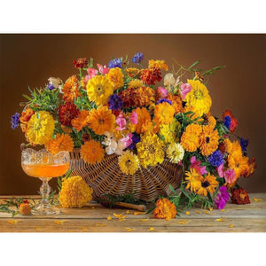 Flower Basket - Full Round Diamond Painting