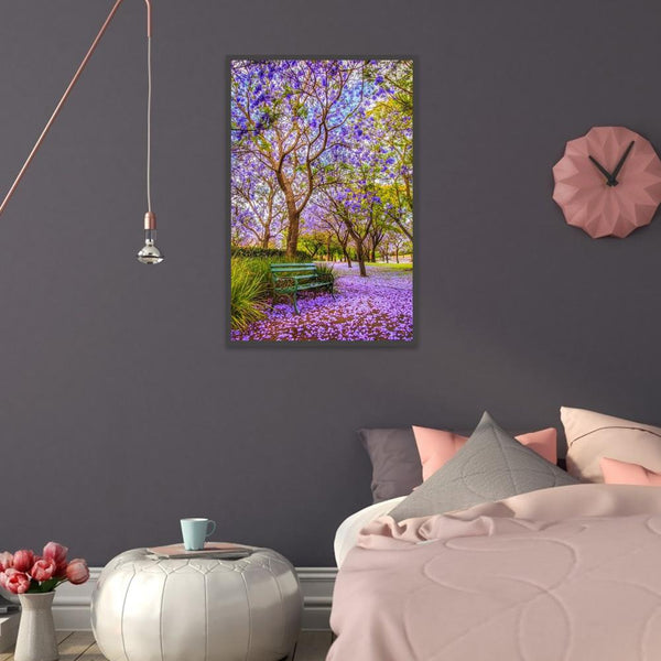Fantasy Purple Flowers Tree - Full Round Diamond Painting