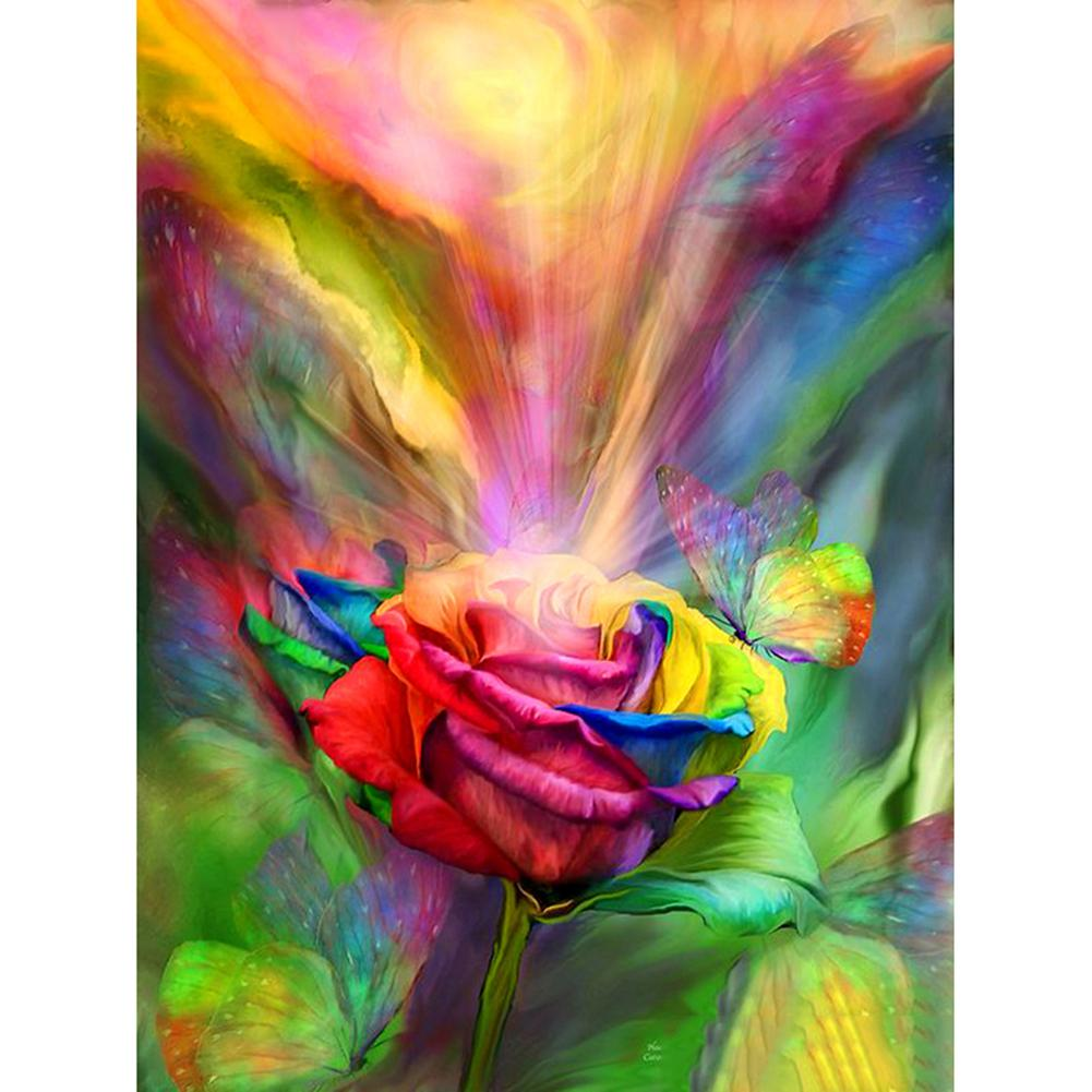 Colorful Rose - Full Round Diamond Painting