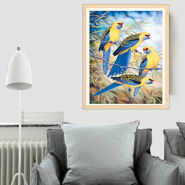 Birds in Tree - Full Round Diamond Painting
