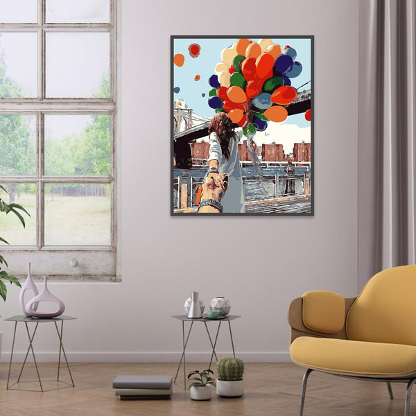 Balloon Lovers - Full Round Diamond Painting