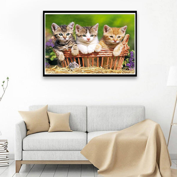 Lovely Cats - Full Round Diamond Painting