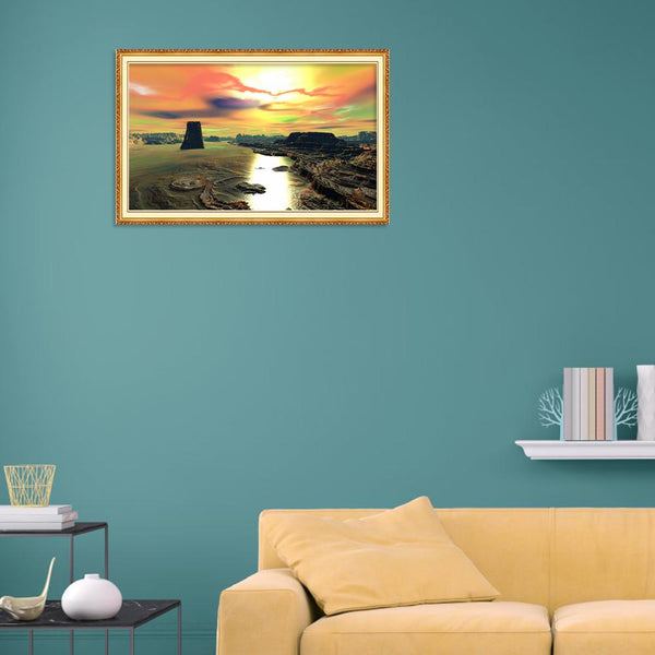 Novelty Setting Sun - Full Round Diamond Painting