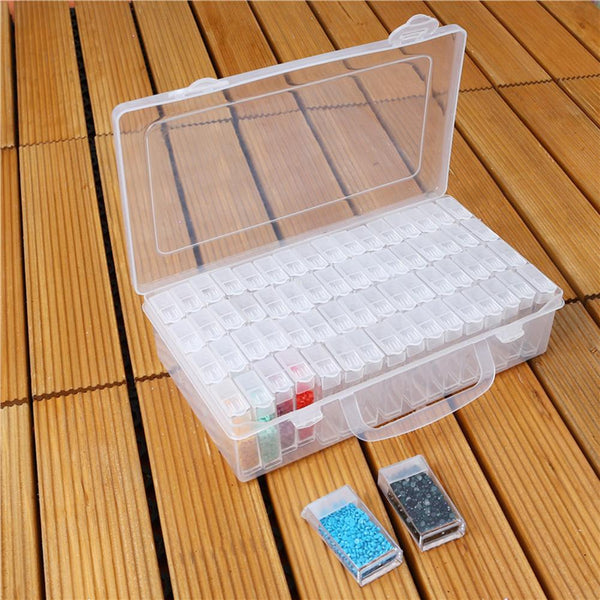 64 Slots Bottles Diamond Painting Storage Box Plastic Rhinestone Holder