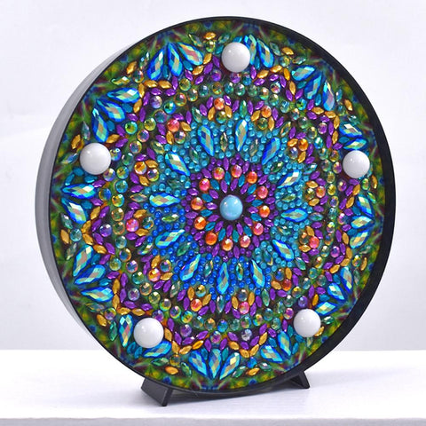 DIY Mandala Diamond Painting Light Embroidery Full Special Drill LED Lamp