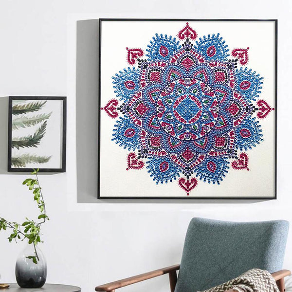 Mandala Heart - Crystal Rhinestone Diamond Painting