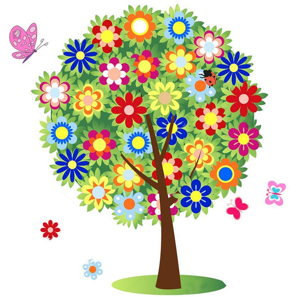 Cartoon Colorful Tree - Full Round Diamond Painting