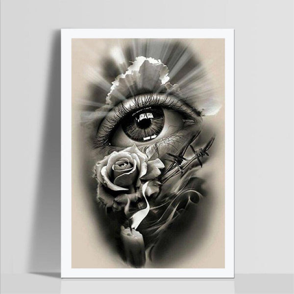 Black Eye Flower - Full Round Diamond Painting