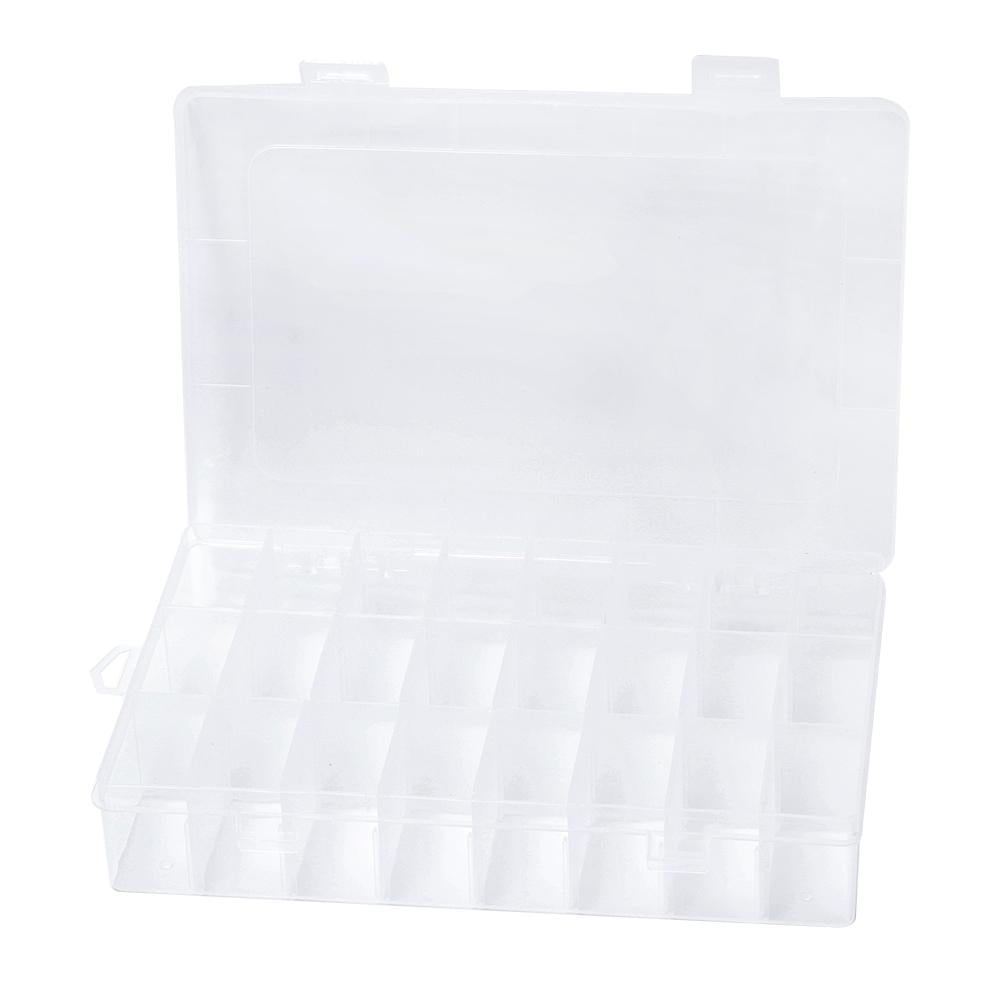 Plastic Jewelry Nail Art Storage Box Multi-grid Pill Case Beads Container