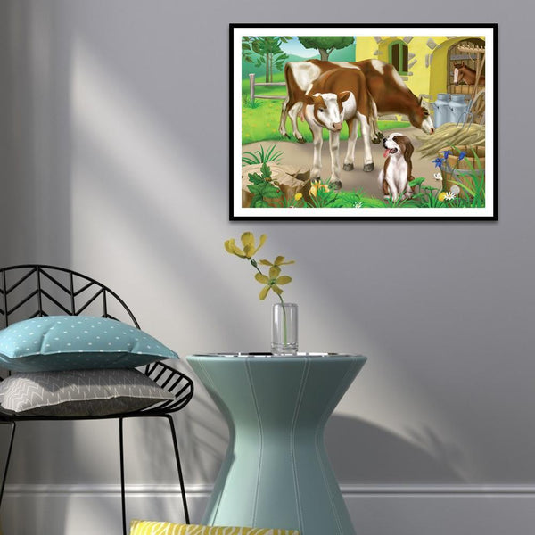 Cow Dog - Full Square Diamond Painting