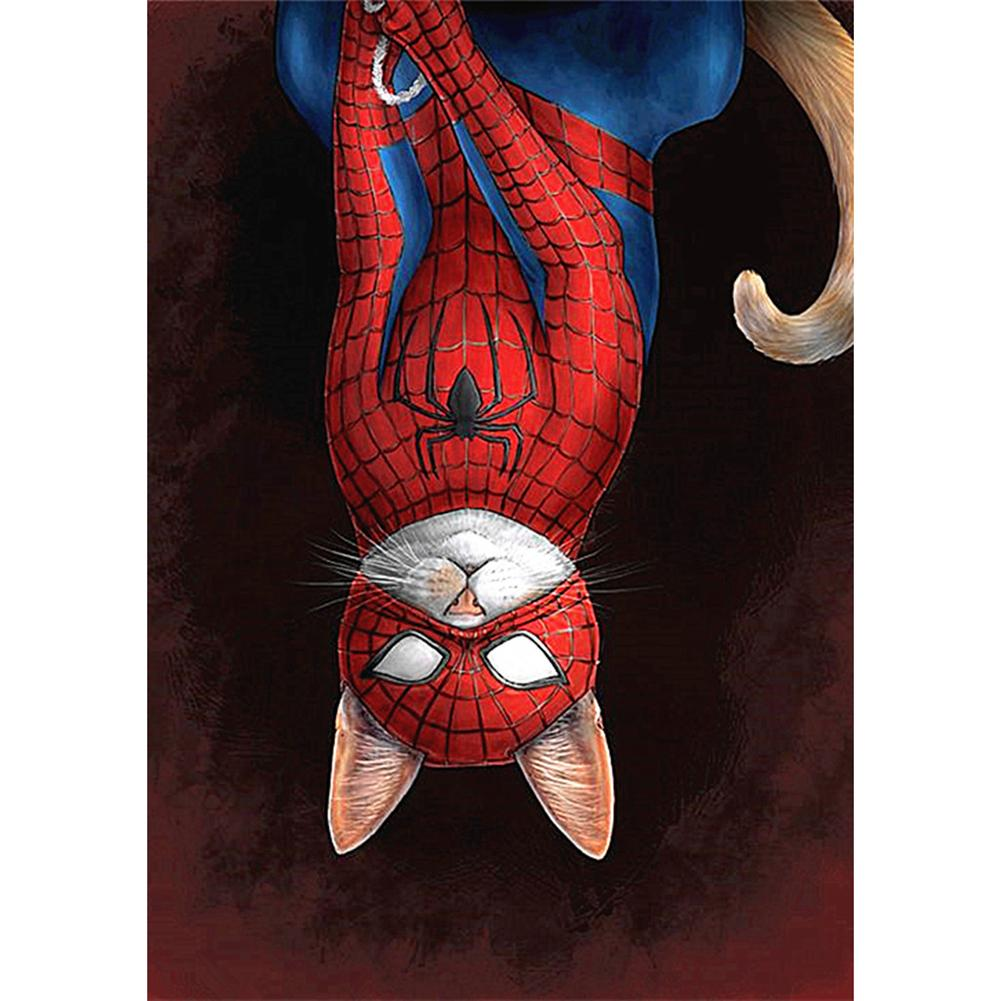 Spider Cat - Full Square Diamond Painting