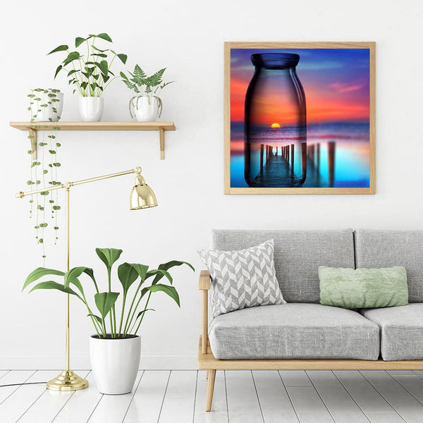 Bottle Scenery - Full Round Diamond Painting