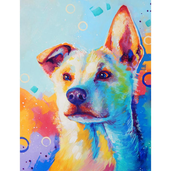 Colorful Dog - Full Round Diamond Painting