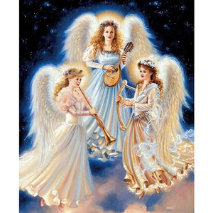 Musician Angel - Full Round Diamond Painting
