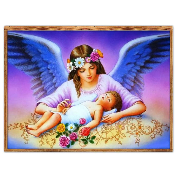 Mother Angel - Full Round Diamond Painting