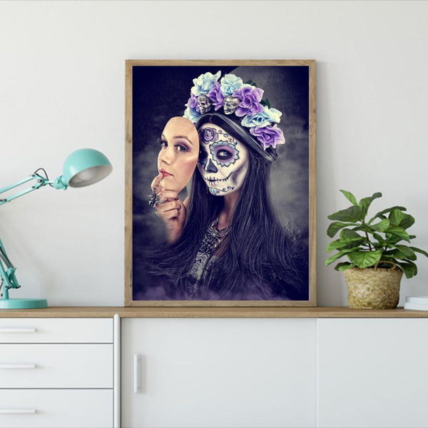 Two-faced Beauty - Full Round Diamond Painting