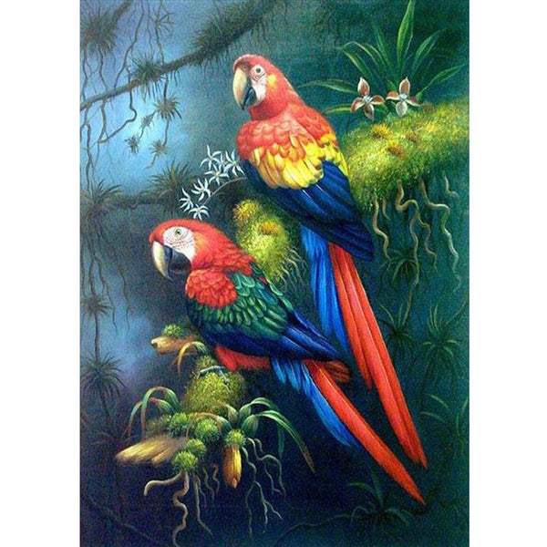 Color Parrot - Full Square Diamond Painting