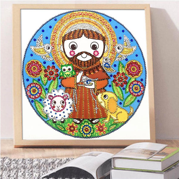 Cartoon God - Crystal Rhinestone Diamond Painting