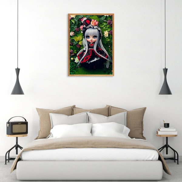 Cool Doll - Full Round Diamond Painting