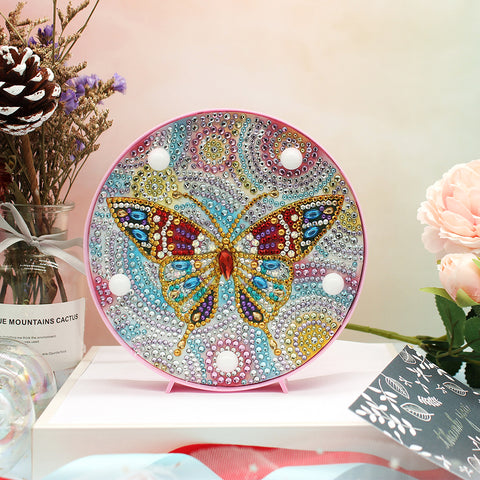 DIY Full Drill Diamond Painting Animal LED Night Lamp Home Decor
