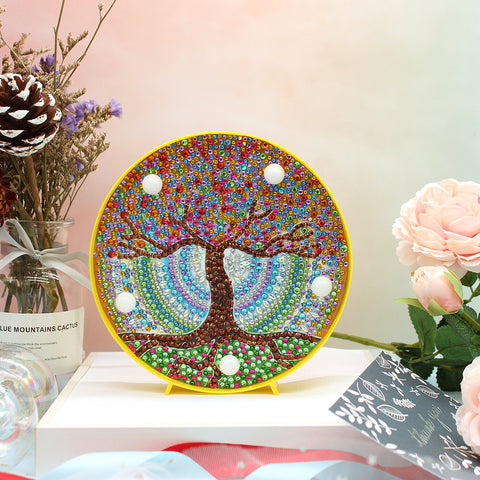 DIY Full Drill Diamond Painting Scenery Special Shaped LED Light