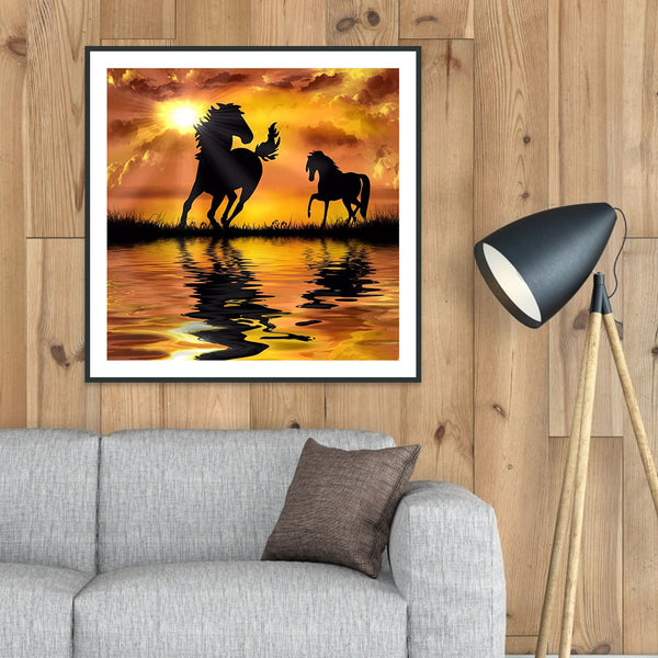 Sunset Horse - Full Round Diamond Painting