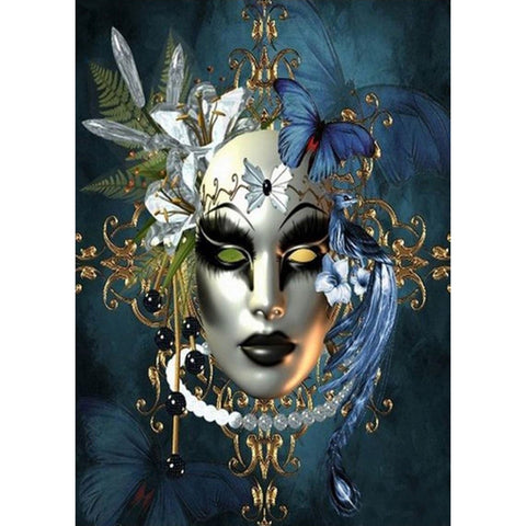 Venetian Art Mask - Full Round Diamond Painting