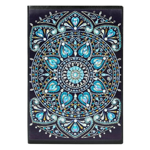DIY Mandala Special Shaped Diamond Painting 60 Pages Students A5 Notebook