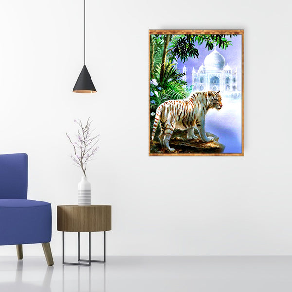 Lurking Tiger - Full Square Diamond Painting