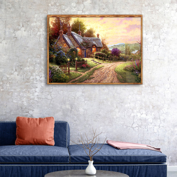 Country Lane - Full Square Diamond Painting