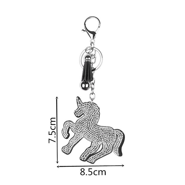 Full Drill Special Shaped Diamond Painting Horse Keychain Bag Pendant Gift