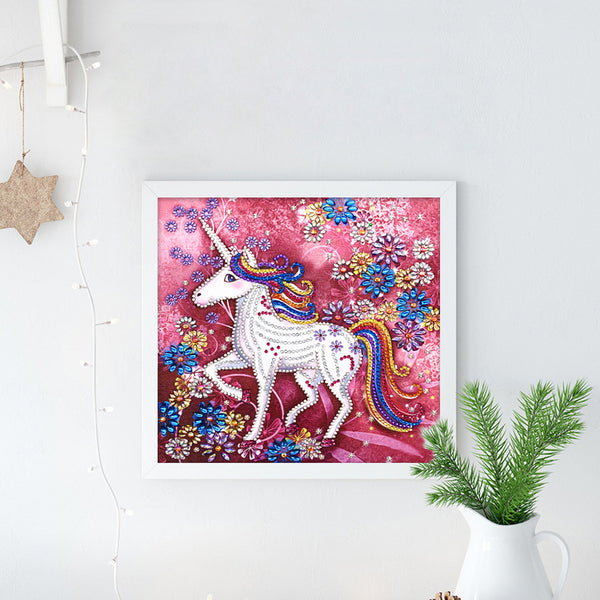 Happy Unicorn - Crystal Rhinestone Diamond Painting
