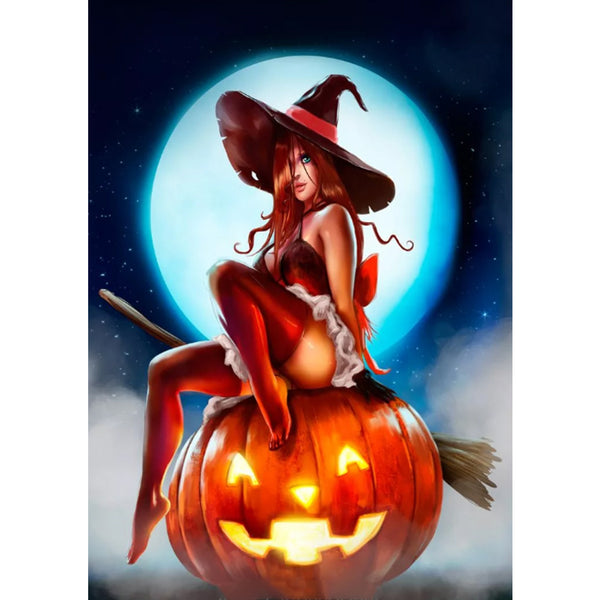 Halloween Witch - Full Round Diamond Painting