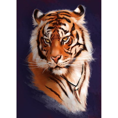Tiger - Full Round Diamond Painting