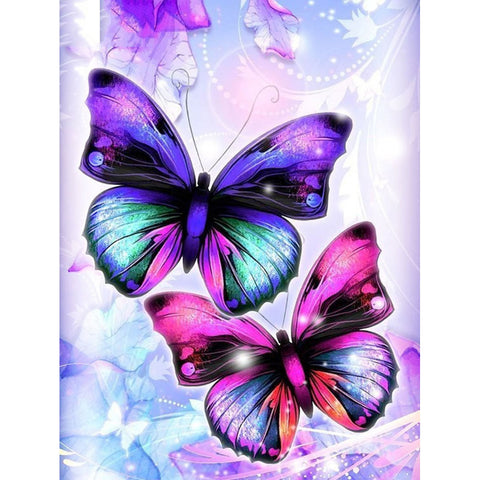 Butterfly - Full Round Diamond Painting