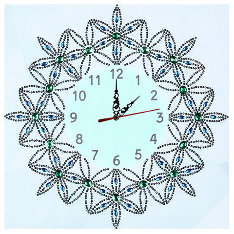 DIY Flower Special Shaped Diamond Painting Embroidery Wall Clock Home Decor