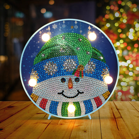 DIY LED Special Shaped Diamond Painting Cross Stitch Modeling Lamp Decor