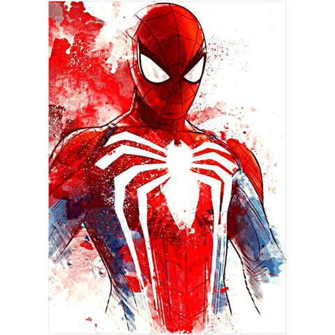 Spiderman - Full Round Diamond Painting