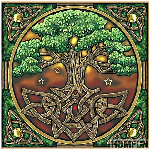 Tree - Full Round Diamond Painting