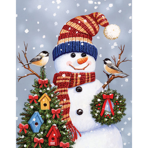 Christmas Snowman - Full Round Diamond Painting