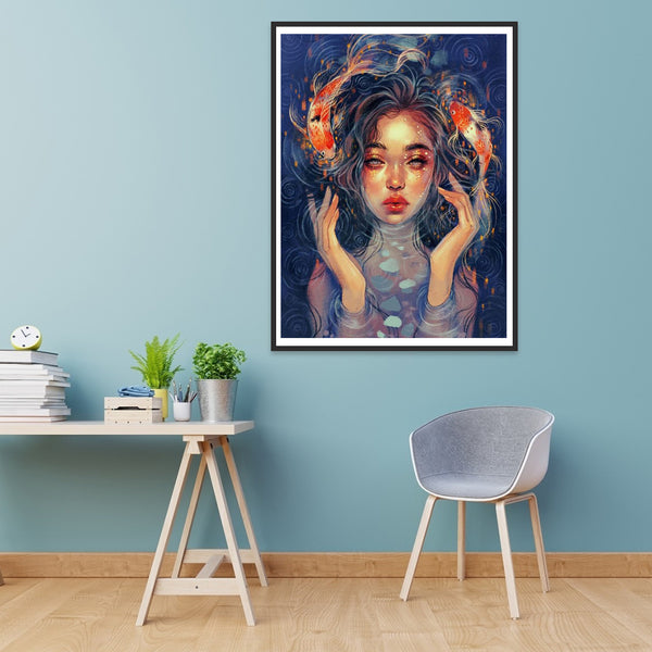 Girl - Full Round Diamond Painting
